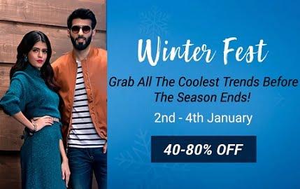Winter Fest – Men's Winter Wear upto 80% off @ Flipkart (Valid till 4th Jan)