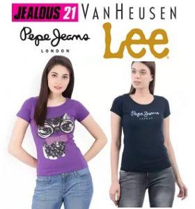 Women's Clothing – Jealous, Lee, Pepe Jeans, Van Heusen – Min 50% off + Extra 15% Off @ Flipkart