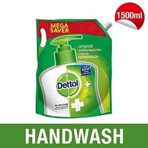 Dettol Liquid Hand wash Refill Original -1500 ml for Rs.180 – Amazon