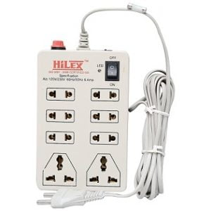 Hilex MINI STRIP 8 Plug Point Extension Strip with Fuse & Spark Suppressor for Rs.189 @ Amazon