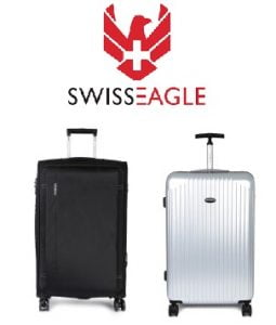 Dhamaal Deal : Flat 65% OFF on Swiss Eagle Trolley Bag @ Myntra