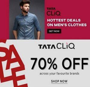 Clothing & Footwear – Minimum 70% off from Rs.149 @ TataCliq