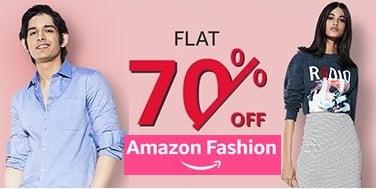 Amazon Fashion Mega Sale: Top Brand Men's / Women's Clothing Flat 70% off