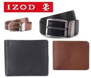 IZod Belt & Wallet Combo – Flat 85% off just for Rs.298 – Flipkart