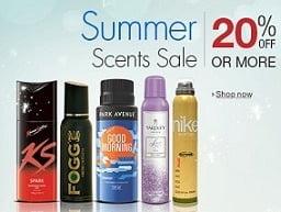 Summer Scent Sale: Minimum 20% Off on Deodorants