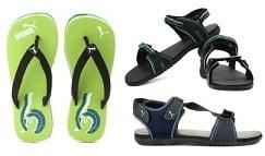 Sandals & Floaters (Puma, Fila, Adidas) 30% - 60% off