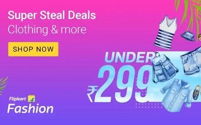 Flipkart Super Steal Deal – Fashion under Rs.299   Rs.499   Rs.799   Rs.999   Rs.1499   Rs.1999