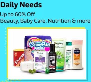 Everyday Essentials upto 60% off – Flipkart