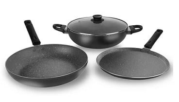 Billion 24 CM (CY142) Non Stick Induction Bottom Cookware Set for Rs.1199 – Flipkart