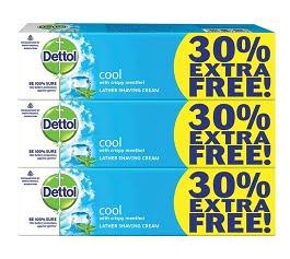 Dettol Fresh Shaving Cream – 78 g (Pack of 3) for Rs.169 @ Amazon