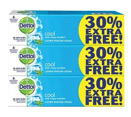 Dettol Fresh Shaving Cream – 78 g (Pack of 3) for Rs.139 @ Amazon