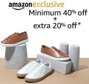 Amazon Exclusive Shoes: Minimum 40% Off + Extra 20% Off @ Amazon