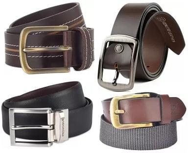 Genuine Leather Belts: Minimum 50% off @ Flipkart (**** Rating & above)