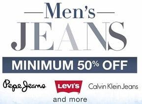 Men's Top Brand Jeans Minimum 55% Off