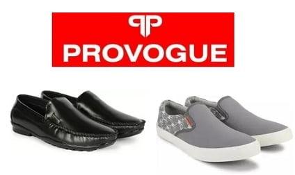 Provogue Men's Footwear Min 60% off from Rs. 269 – Flipkart