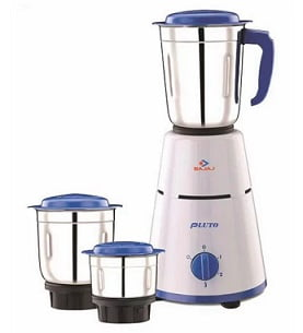 Great Deal: Bajaj Pluto 500 Watt 3 Jar Mixer Grinder for Rs.1499 – Tatacliq