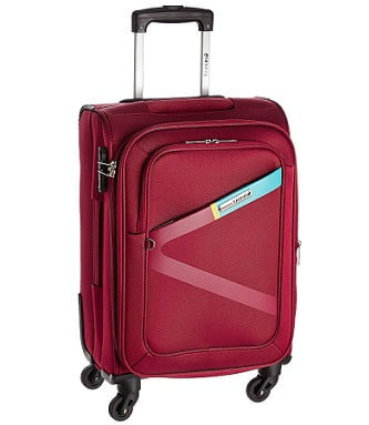 Safari Polyester 54.5 cms Red Softsided Carry-On – Flat 70% off for Rs.2061 – Amazon