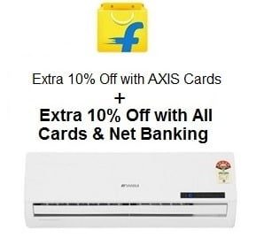 Air Conditioners: Upto 55% Off + Double Extra Rs.2000 Off with All Credit / Debit CARDS / Net Banking +10% Off with AXIS CARD  @ Flipkart