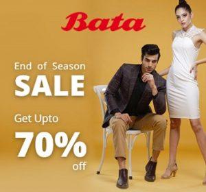 Bata Clearance Sale – Upto 70% Off on Men's / Women's Footwear