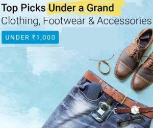 "Flipkart "" Under A Grand"" Sale: Fashion Products under Rs.999"