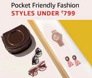 Amazon Fashion Accessories: Watches, Jewellery, Luggage and Handbags under Rs.799