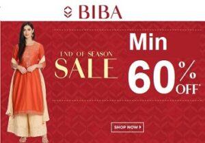 BIBA – Minimum 60% off on Women's BIBA Ethnic Wear @ Flipkart