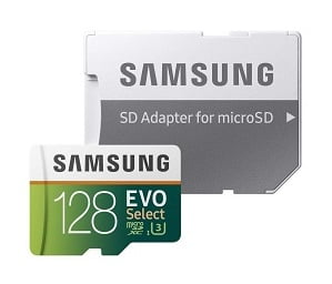 Samsung 128GB 100MB/s (U3) MicroSD Evo Select Memory Card with Adapter (MB-ME128GA/EU) for Rs.2799 – Amazon