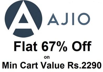 Clothing & Shoes (Men's & Women's) – Get 67% Off on Minimum purchase Rs.2290 @ Ajio (Limited Period Deal)