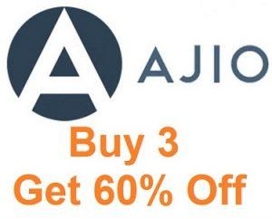 Clothing & Shoes (Men's / Women's) – Buy 3 Get Flat 60% off @ Ajio