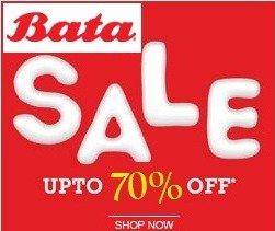 Bata End of Season Sale: Upto 70% Off on Men's / Women's Footwear & Handbags