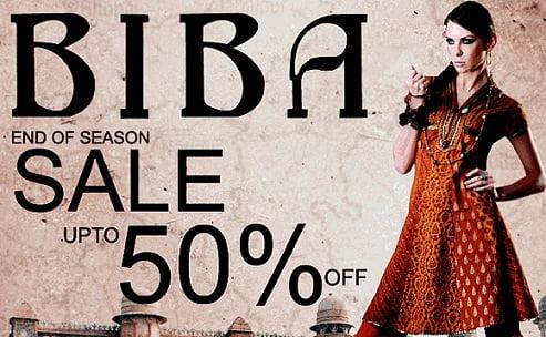Women's Ethnic Wear Sale – Upto 50% off @ BIBA