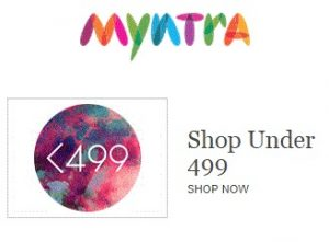Myntra – Clothing, Footwear & Accessories under Rs.499