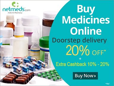 Netmeds: Get Flat 20% instant Discount on All Medicines +20% NMS Cashback + EXTRA CASHBACK (10% – 50% or Rs.200)