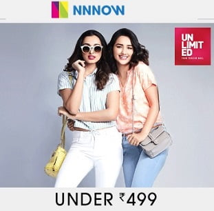 Men's / Women's Clothing under Rs.499 @ NNnow
