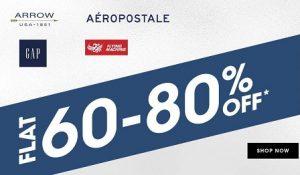 Men's / Women's Clothing – Top Brand (Flying Machine, Arrow, Ed Hardy, U.S Polo) – Min 60% off @ NNnow