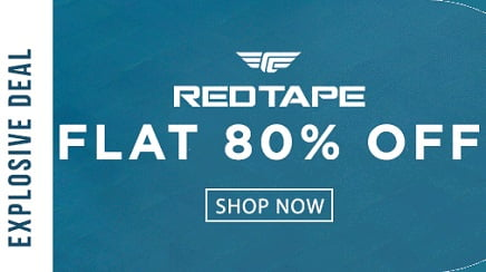 Red Tape Men's Clothing – Flat 80% off @ Jabong