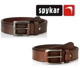 Men's Spykar Belts – Minimum 50% off + 10% Extra Cashback as Amazon Pay Balance