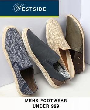 Westside Men's Footwear under Rs.999 – Flat 30% – 70% off @ TATACLIQ