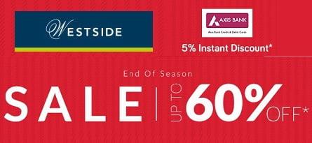 Westside Clothing online -upto 70% off @ TATACLIQ