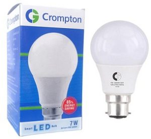 Crompton Greaves White 7W LED Bulb for Rs.65 only – Pepperfry (Limited Period Deal)