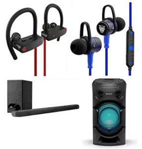 Latest Launches – Headphones & Speakers upto 60% off @ Amazon