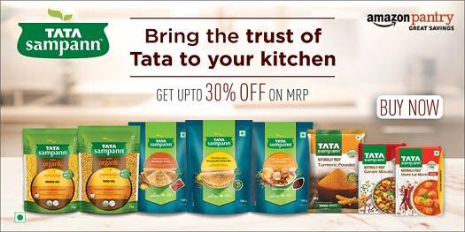 Tata Sampann Grocery – Upto 50% off @ Amazon