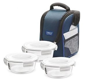 Treo by Milton Health First Round Glass Tiffin Box Set of 3 worth Rs.995 for Rs.676 – Flipkart