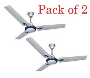Urja Lite 350rpm Fusion Silver & Blue Ceiling Fan, 1200mm (Pack of 2) for Rs.1308 @ Moglix