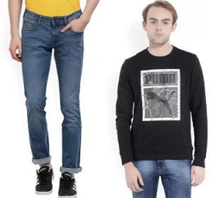 Popular Brand Men's Clothing – Min 40% off @ Flipkart