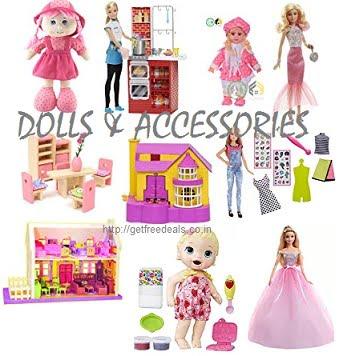 Dolls & Accessories – Minimum 50% off @ Amazon