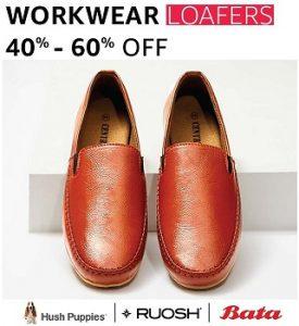 Footwear (Hush Puppies, Ruosh & Bata) – Flat 40% – 70% off @ Amazon