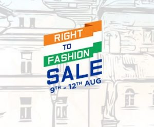 Myntra Right to Fashion Sale – 50% to 80% Off (9th to 12th August)