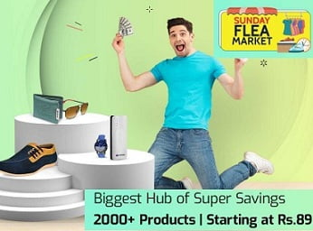 Shopclues Sunday Flea Market Deals + Upto Rs.50 Extra off + Bu 2 Get Rs.200 Extra Off
