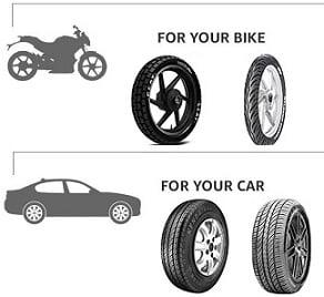Car & Bike Tyres – Flat 10% – 40% off @ Amazon